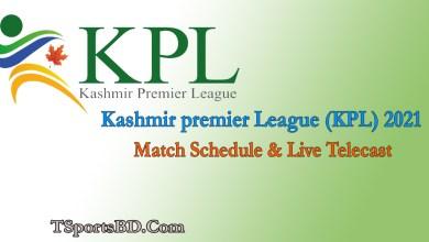 Kashmir premier League (KPL) Live