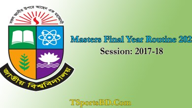 NU Masters Final Year Exam New Routine