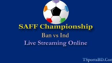 Bangladesh vs India SAFF Football Live