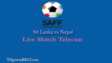 Sri Lanka vs Nepal SAFF Football Championship Live Match