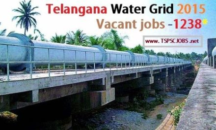 Telangana Water Grid (TWG) 1238 Recruitment 2017 Notification