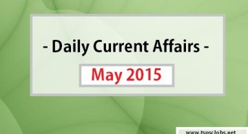 Current Affairs on May 2015