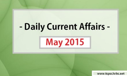 Daily Current Affairs May 27 , 2015 – Gk Today