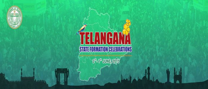 Telangana State Formation Day Celebrations - English Logo