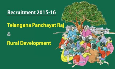 Telangana Panchayat Raj Recruitment Notification – Various Posts
