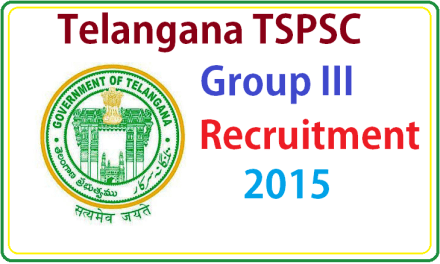 Telangana TSPSC Group 3 Notification 2017