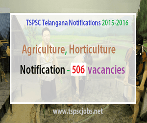 TSPSC Telangana Agriculture AEO Notification 2016