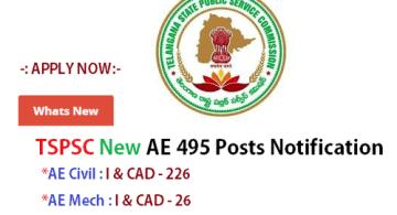 telangana tspsc ae 1085 posts notification