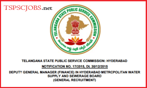 TSPSC DGM Notification 2015