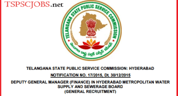 TSPSC DGM Notification 2015