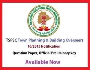 TSPSC Town Planning Key 2015