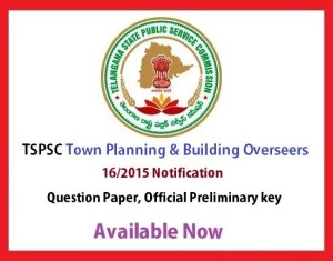 TSPSC Town Planning Key 2015