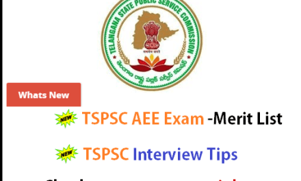 TSPSC AEE Interview Results 2016 : Telangana Recruitment Results