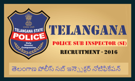 Telangana TS Police SI Events Dates 2016 – List Announced*