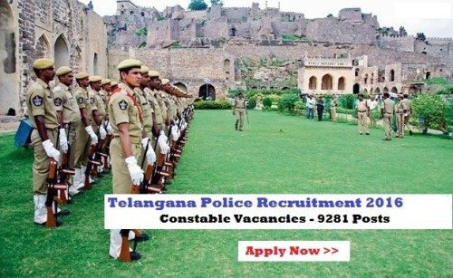 Telangana TS Constable Notification 2016 Online Application Link