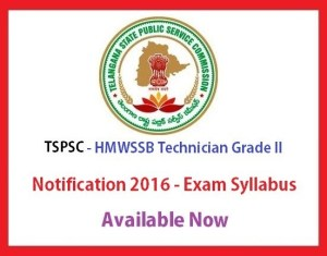 tspsc hmwssb ITI techinician grade 2 - exam syllabus