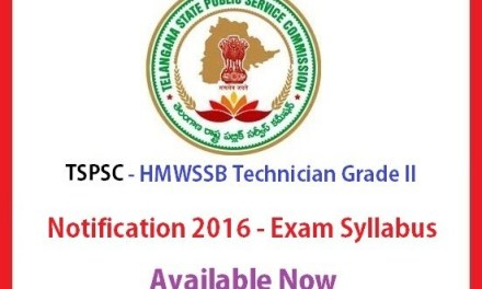 TSPSC HMWSSB Technician Grade II Notification – Exam Syllabus