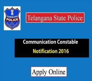 ts telangana police communication constable notification 2016
