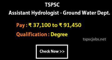 TSPSC Ass Hydrologist GW Dept