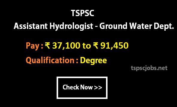 TSPSC Assistant Hydrologist Ground Water Dept 2016- Exam Syllabus