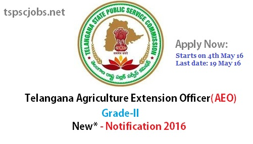 TSPSC AEO Agriculture Extension Officer Notification 2016 – Grade II