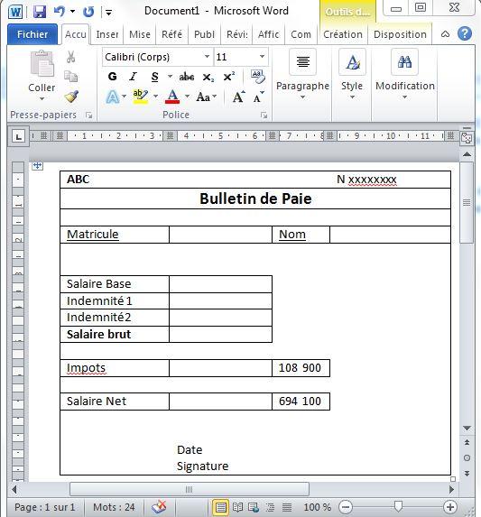 5 Gerer La Paie Avec Excel Utilisez Le Publipostage Pour Imprimer Les Bulletins De Paie Tss Performance A Chacun Son Tableau De Bord