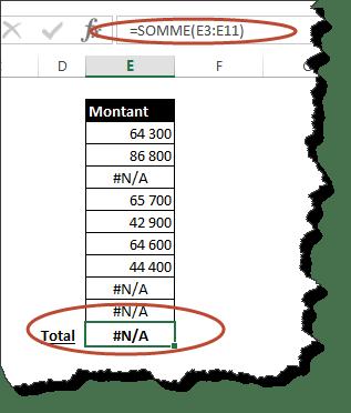Fonction Avancee Excel Faire La Somme D Une Plage De Cellule Avec