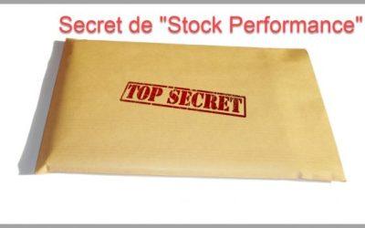 Le secret de mes tableaux de bord : Stock performance