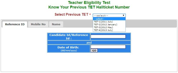 Previous TS TET AP TET Hall Ticket Numbers & Results