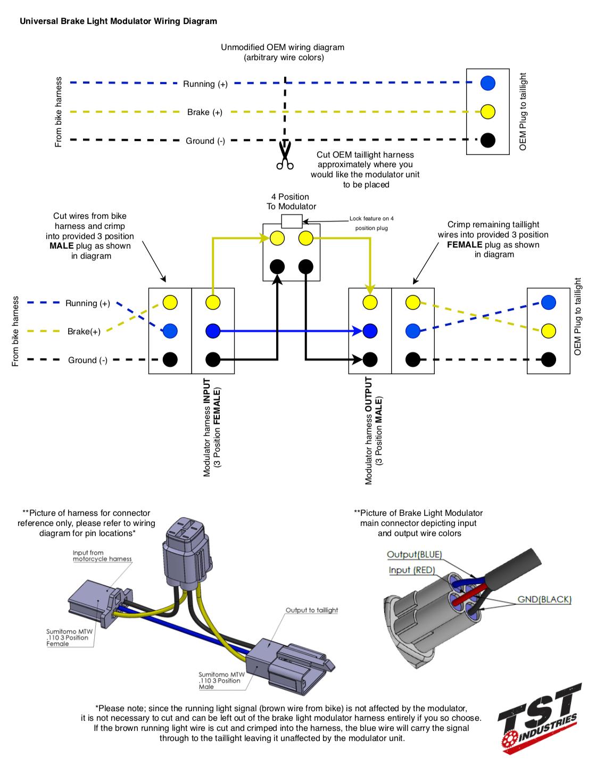 Lamp Wiring Diagram : wiring, diagram, Install, Universal, Brake, Light, Modulator, Industries