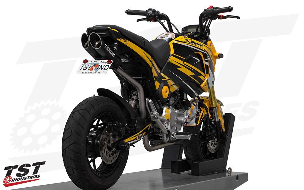 toce t slash full system exhaust for honda grom 2013
