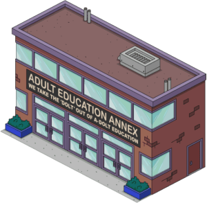 TSTO level 27 adult education annex