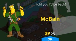 TSTO McBain new character unlock level 31