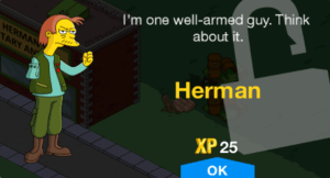 TSTO new character unlock level 30 herman