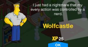 TSTO Wolfcastle new character unlock level 31