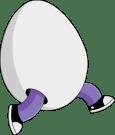 running egg