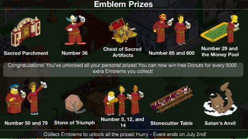 Stonecutter Completed Emblem Prizes