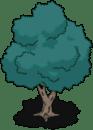 blue green tree