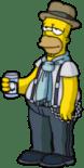Cool Homer enjoy Blue Ribbon