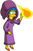 Marge throw Fireballs