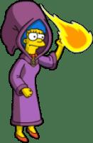 Marge throw Fireballs