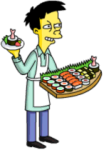 Akira hand out sushi samples
