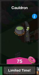 Witch Marge in Cauldron
