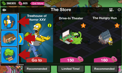 The Store Left Side Icons