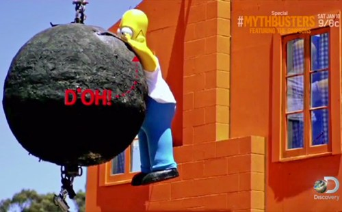 Mythbusters Homer Simpson
