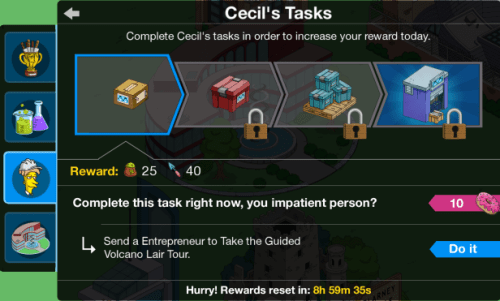 cecil's tasks