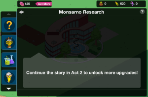 Monsarno Research Continue in Act 2