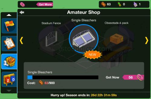 Amateur Shop Single Bleachers