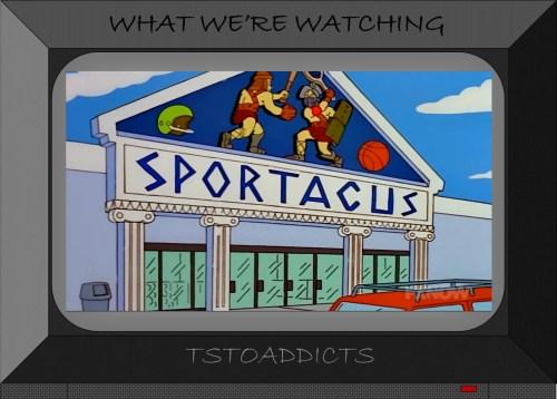Sportacus sporting goods Simpsons