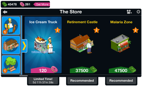 Ice Cream Truck Main Menu
